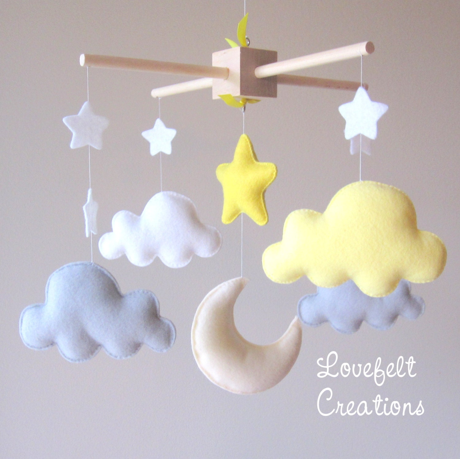 mobiles for baby baby mobile cloud mobile moon clouds mobile  - baby mobile cloud mobile moon clouds mobile yellow and