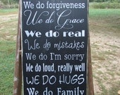 Family rules sign, wall decor, primitive country, wood sign, hand painted sign, woodworking, rustic sign, primitive family rules sign, sign