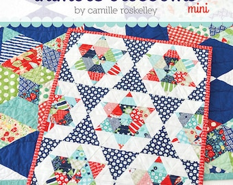 """Ships FREE In US - MINI Starlight Quilt Printed Pattern - 12"""" x 15"""" - Thimble Blossoms by Camille Roskelley of Bonnie and Camille"""
