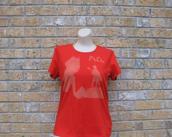 Fooly Cooly FLCL anime bleached design T shirt size women's PS