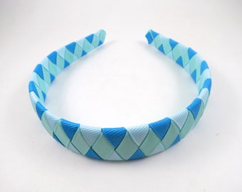 Blue Headband - Light Blue Headband - Aqua Headband - Turquoise Headband - Woven Braided Headband - Toddler Teen Adult Headband