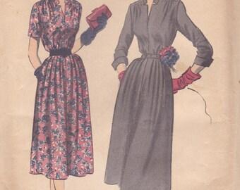 1950s Simple Elegant Dress Pattern Advance 5929 Size 12 Uncut