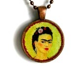 Frida Kahlo-  Pendant Necklace - Self Portrait