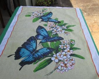 Tea Towel Vintage of Ulysses Butterflies Australia, Australian.