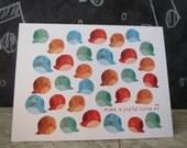 Joyful Singing Birds Christmas Holiday Card, Recycled Paper