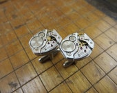 Waltham 678 Watch Movement Cufflinks. Great for Fathers Day, Anniversary, Groomsmen or Just Because.  #347