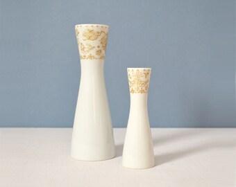 Vintage Bjorn Wiinblad Idyll Gold Bud Vases for Rosenthal Studio Linie