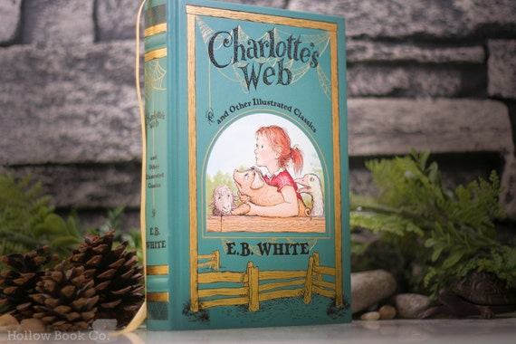 Hollow Book Safe - Charolette's Web (LEATHERBOUND)