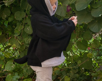 BABY & TODDLER Bat Hoodie, Costume, Vest, Jacket, Hand-made, Cosplay
