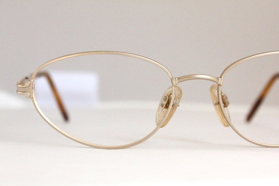 Vintage 80s Italian Gold Wire Eyeglasses Frames by Sorocco