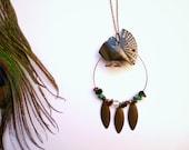 Connie - Special price - bohemian peacock vintage gypsy necklace