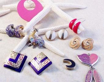 DESTASH Retro Near-Vintage Earring Pairs ~ Individual Earrings and More ~ Lot 2