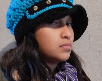 Crochet Pattern for Funky Engineer Hat