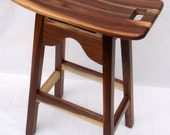 Walnut Stools with Sap Wood Accents