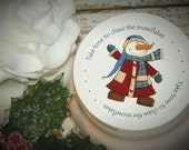 Whipped Body Butter, Snowman, Snowmen, Christmas, Christmas Gift, Unique Gift, Holiday (Take Time to Chase the Snowflakes Gift)