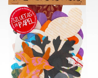 30 PAPER SILHOUETTES to make craft and scrapbooking.