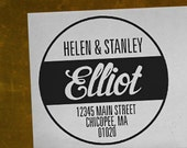 The Elliot - Personalized Address Stamp