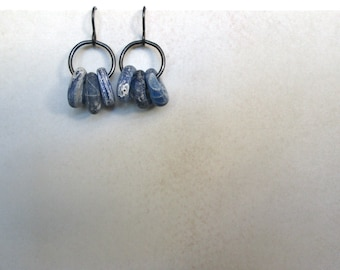 Cobalt Loop Earrings navy rustic by Nancelpancel on Etsy