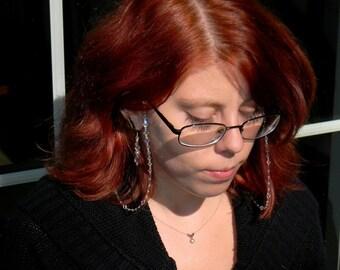 Crystal Aurora Borealis Eyeglass Holders