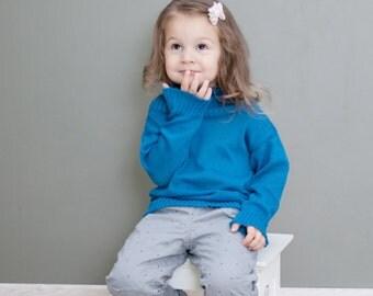 Organic Cotton Blue Baby Children Sweater Top Clothing Knit summer Boy Girl