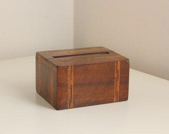 Magic Cigarette Case and Dispenser — Art Deco Inlaid Wood