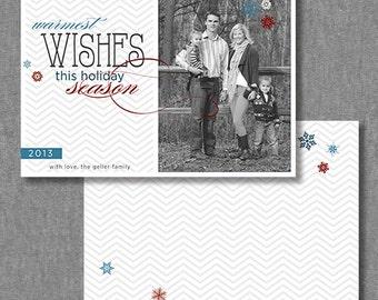 DIY Printable Holiday Photo Christmas Cards