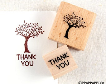 43% OFF SALE Tree & thank you Rubber stamp set