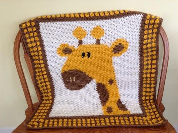 Crochet Giraffe Afghan Baby Afghan Baby Blanket by NancyBags4U