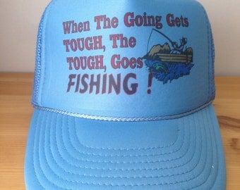 Vintage 1980s Trucker Hat, Mesh Snapback