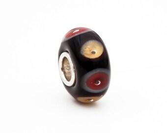 Eye of the Buckeye Handcrafted Lampwork Glass The Buckeye Bead Charm Bead, OSU Buckeyes