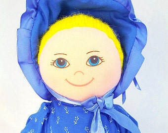 Vintage BLUE BONNET Sue / 1980's Advertising Plush Doll by Nabisco