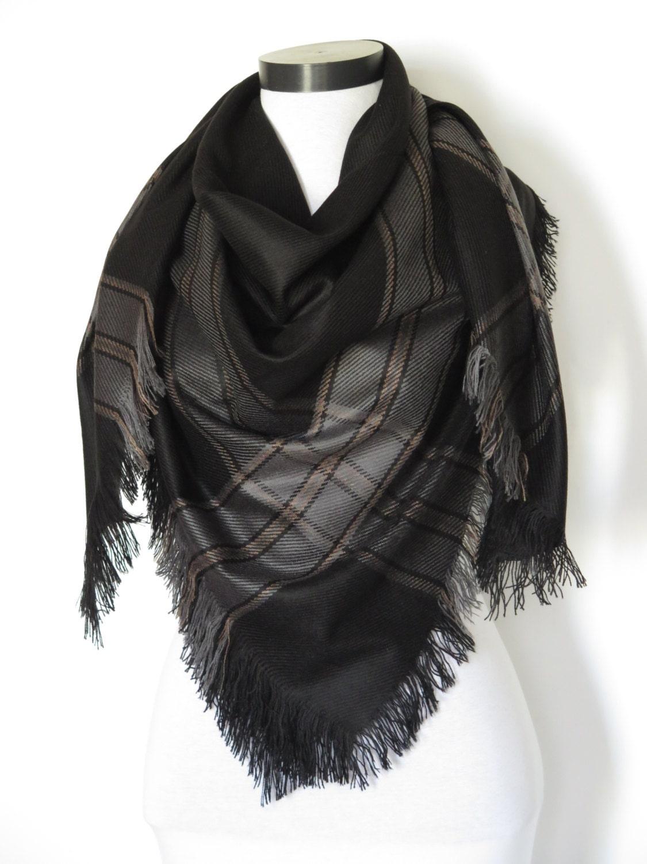 tartan scarves black blanket scarf plaid scarf