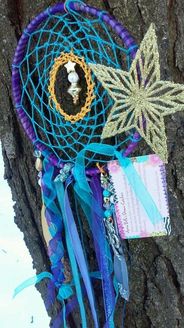 Sale Purple and teal Mermaid decor large dream catcher