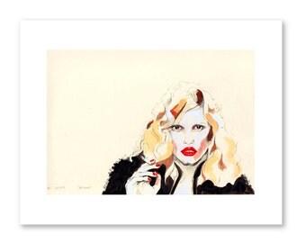 Stone- Fashion Illustration- Fashion Print- Vogue Print- Fashion Sketch
