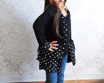Girls Ruffled Cardigan- Sizes 2T-10yrs