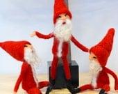 Waldolf Inspired Bendy Gnome Elf, Needle felted gnome, elf, felt gnome, felt elf, Christmas elf