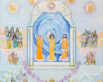 SATHYA SAI BABA Canvas Print Lord of the Universe