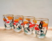 Vintage Set of 4 Mid-Century Drinking Glasses