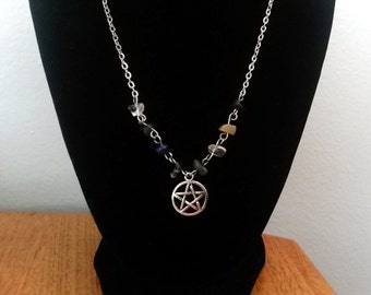 Silver Pentacle Chakra Necklace