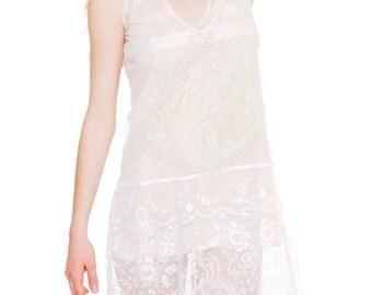 1920s Vintage Princess Lace Dress  Size: XS/S/M