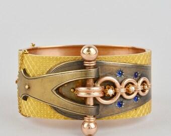 Stunning Victorian 14 Kt gold bangle