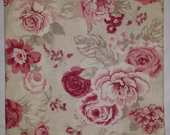 "Shabby Chic Cushion Cover in Vintage Red Roses 14"" 16"" 18"" 20"""