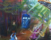 "Fine Art Print ""Dr Who"" and ""Disney"" Mashup 8X10"