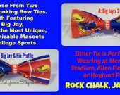 Bow Ties Made From The University of Kansas Fabric - Very Cool BowTies for a Great School - ROCK CHALK JAYHAWK - U.S.SHIPPlNG Always 1.99