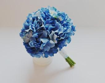 Blue Hydrangea Bouquet, Hydrangea Bouquet, Spring Bouquet, Bridesmaid Bouquet, Shabby Chic Bouquet, Garden Bouquet, Wedding Bouquet, Silk