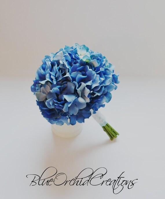 blaue hortensie bouquet hydrangea bouquet von blueorchidcreations. Black Bedroom Furniture Sets. Home Design Ideas