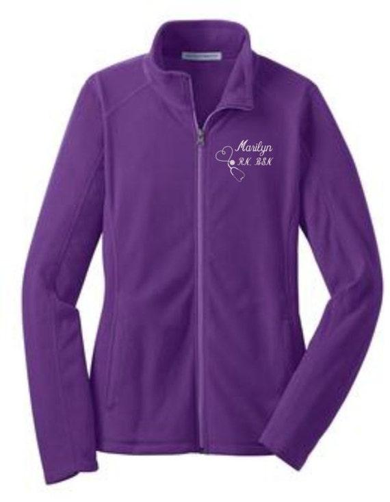 Purple Fleece Jacket Designer Jackets