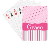 Hearts Personalized Playing Cards - Name or Initials