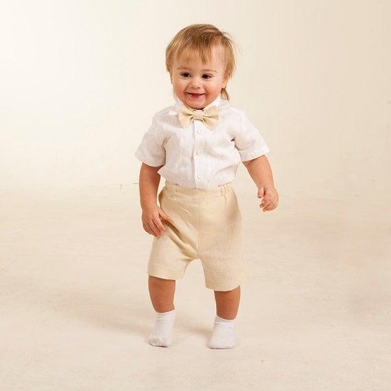 baby jungen hemd shorts fliege ringtr ger outfit junge leinen. Black Bedroom Furniture Sets. Home Design Ideas
