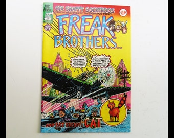 Six Snappy Sockeroos from the Archives of the Fabulous Furry Freak Brothers / by Gilbert Shelton / Rip Off Press / 1980 / Number 6